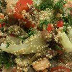Quinoa met Garnalen