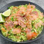 Courgetti met zalm en avocado