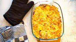Eiwitrijke zoete aardappel gratin