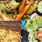 Gezonde kapsalon met groentefriet