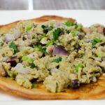 Proteïne pannenkoek met ei en champignon