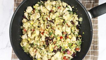Quinoa recept met kip en groeten (snel recept)