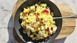 Snelle couscous met kip en groenten