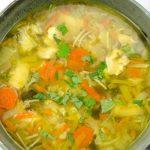 Snelle maaltijdsoep met kip en groenten