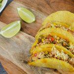 Taco met kip en groenten