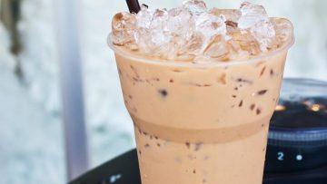 Vanille koffie proteïne frappé