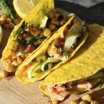 Zalm taco's met tzatziki